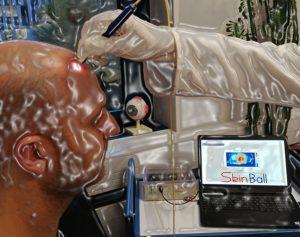 Visulisation of the targetd use case for the photonic skin sensor.
